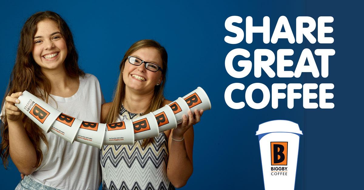SHARE GREAT COFFEE. BIGGBY COFFEE.